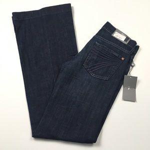 NWT 7 For All Mankind DOJO Flare Dark Jeans Sz 25